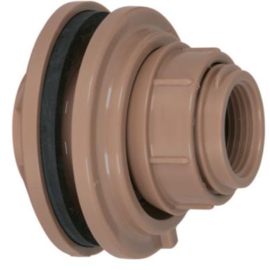 Adaptador Roscavel PVC Marrom 75 mm com Anel - Amanco