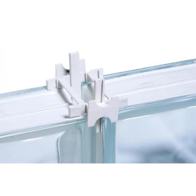 Espacador para Bloco de Vidro 10mm Branco 10 Pecas - Cortag