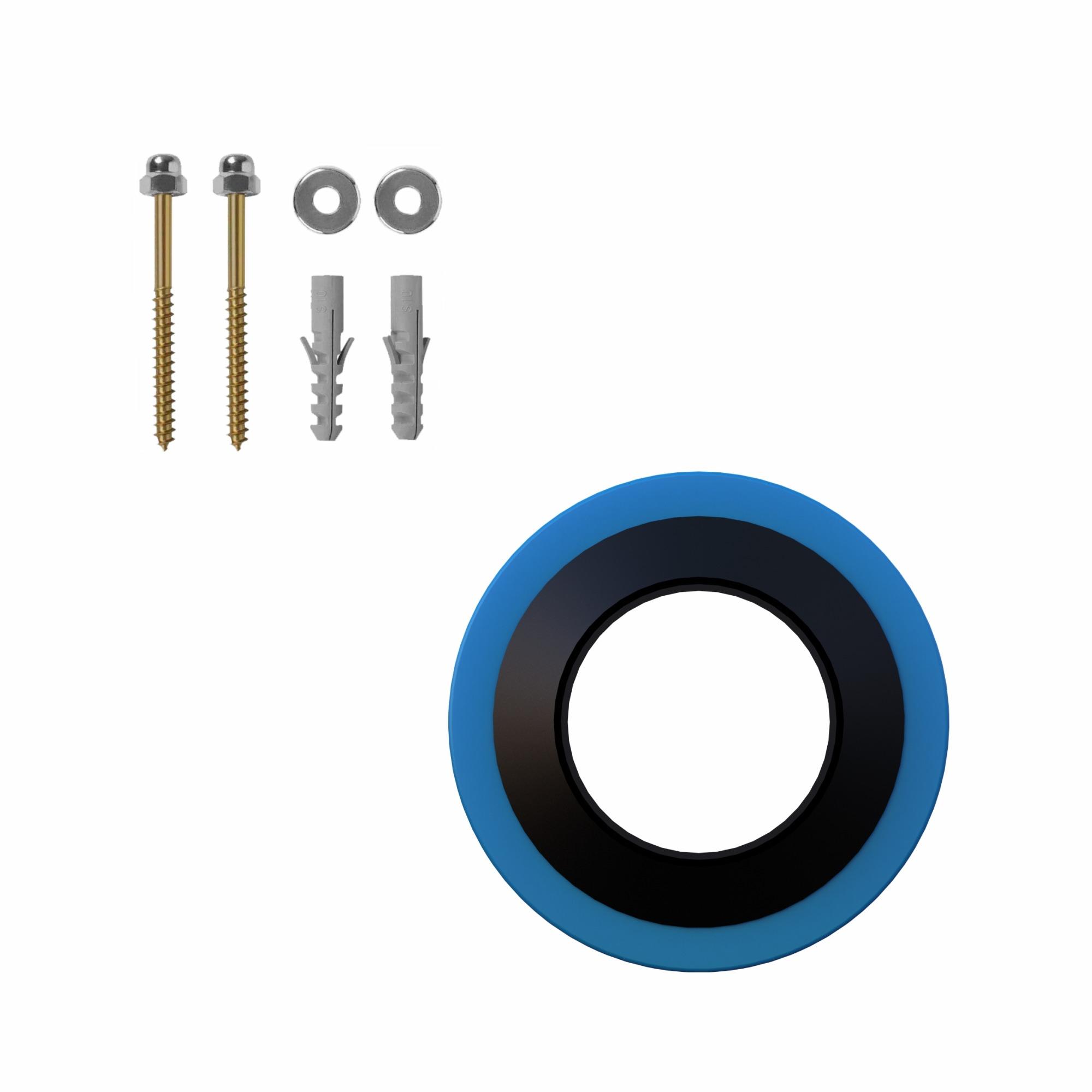 Kit de Acessorios para Instalacao de Bacia com Anel PVC - Injetplast