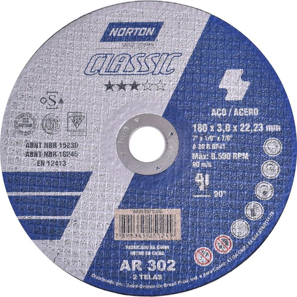 Disco de Corte 230 x 30 x 2223mm - Norton
