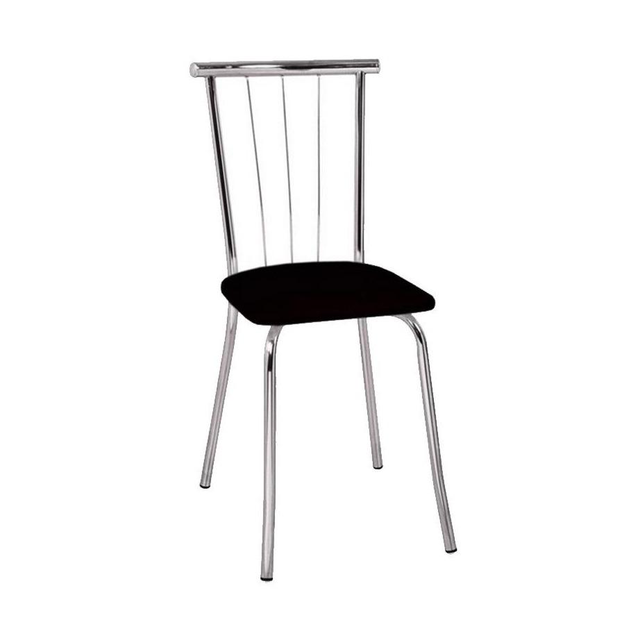 Cadeira Estofada para Sala Corino Preto - Carraro