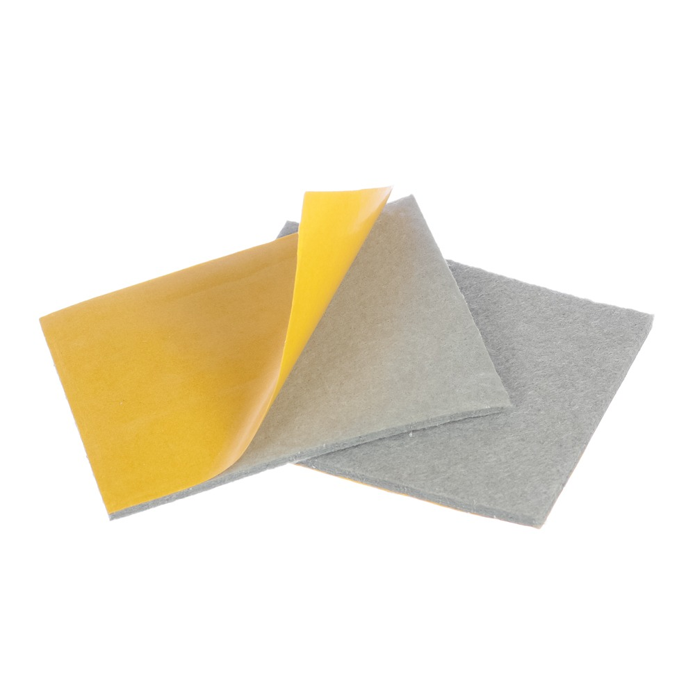 Protetor anti-risco de Feltro Adesivo Retangular Cinza 75x100x3 mm - Engedom