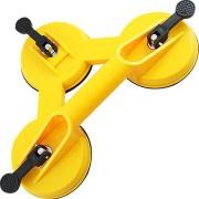 Ventosa Tripla em Plástico ABS com Capacidade Total de Carga de 75kg - Vonder