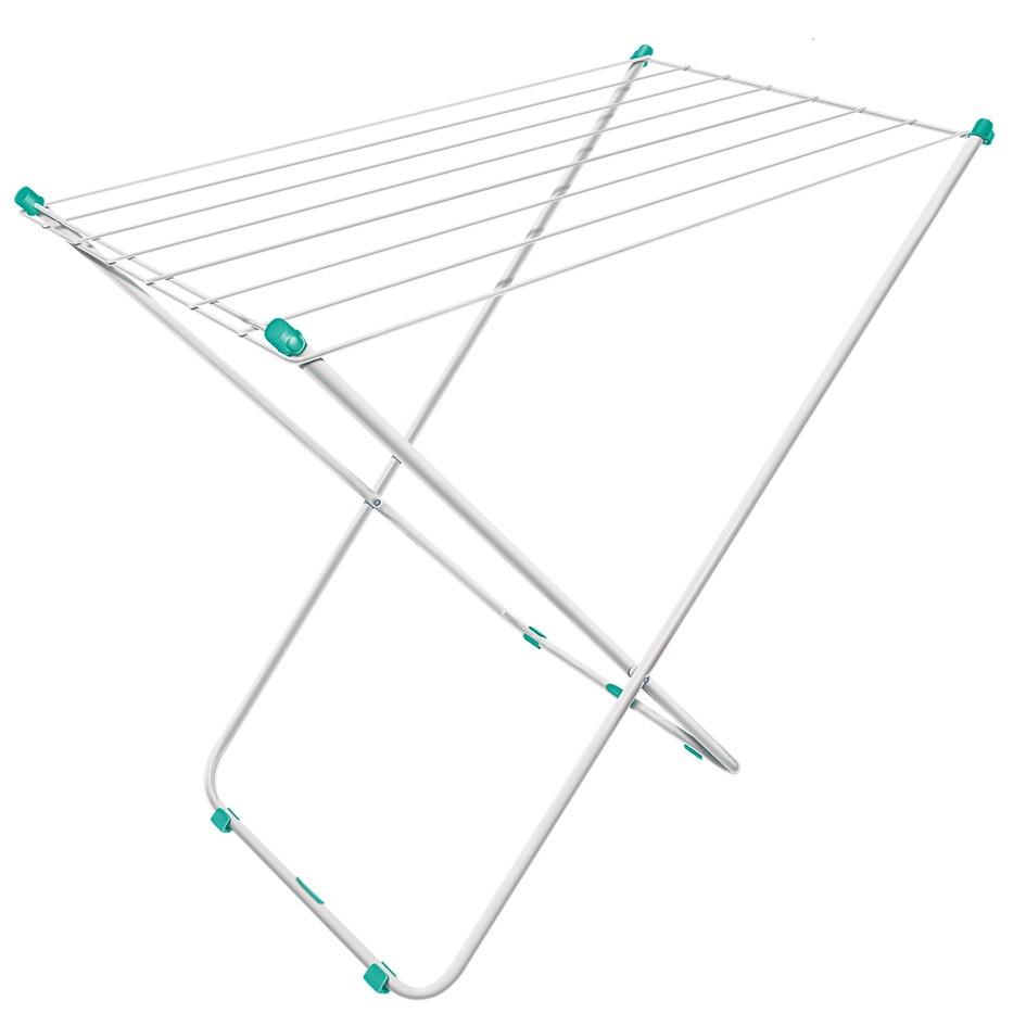 Varal de Piso Aco e Plastico Dobravel 78x51cm Branco 101051 - Secalux