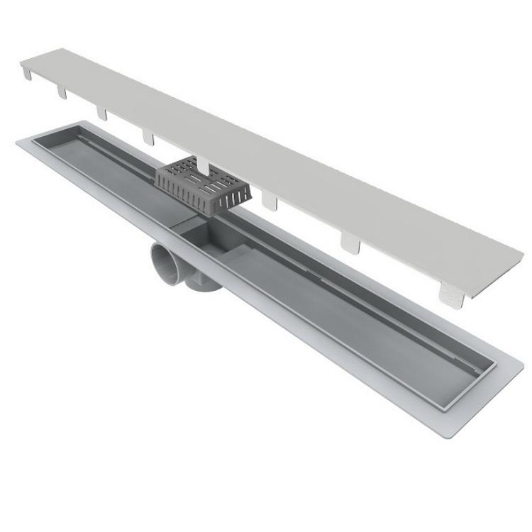 Ralo de Plastico para Piso Linear Smart Inox 70cm - Ralo Linear