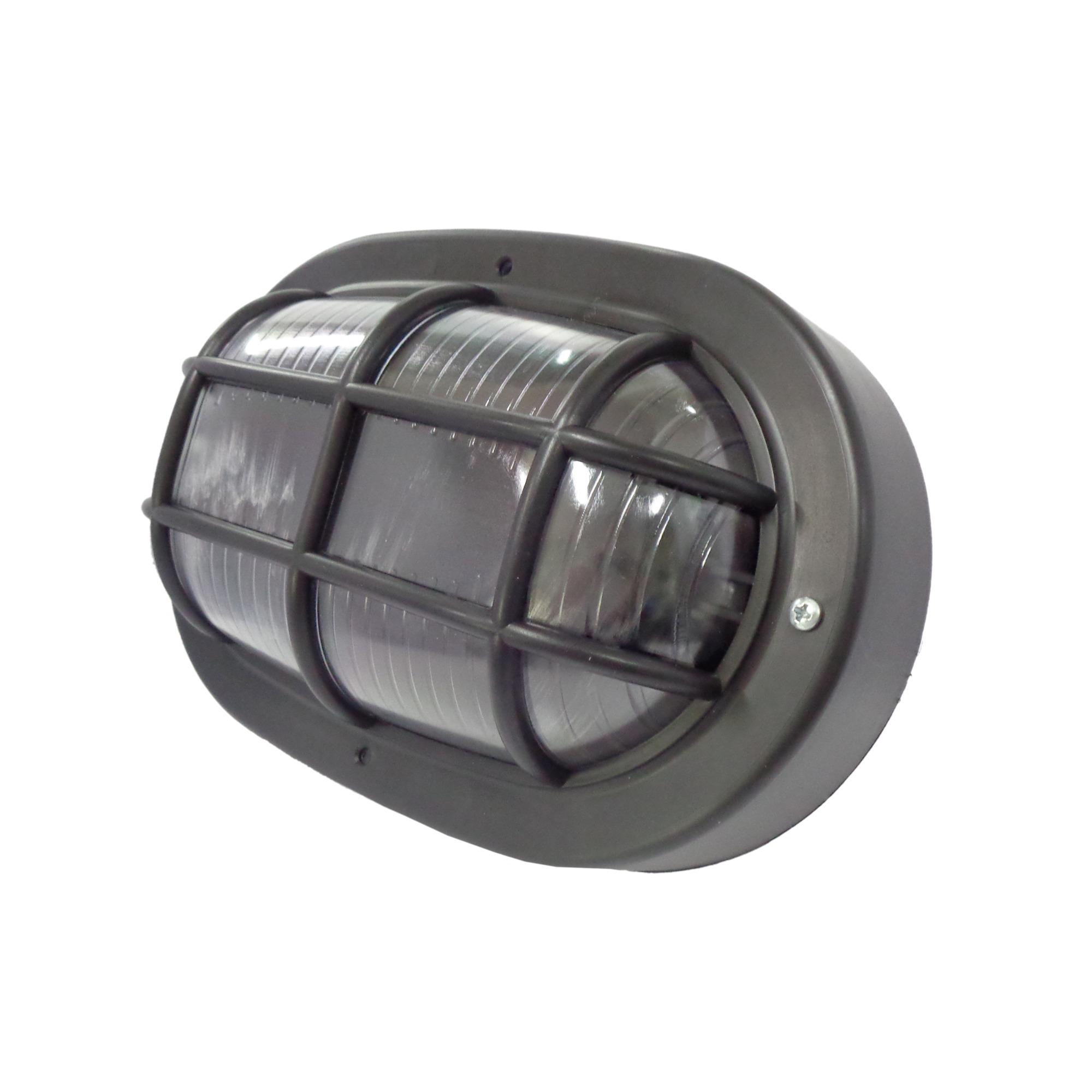Luminaria Externa PLS Tartaruga Oval Preta 1611 - Ilumi