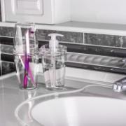 Jogo para Banheiro em Polipropileno Tule 2 Peças Incolor - CBT805 - Ou