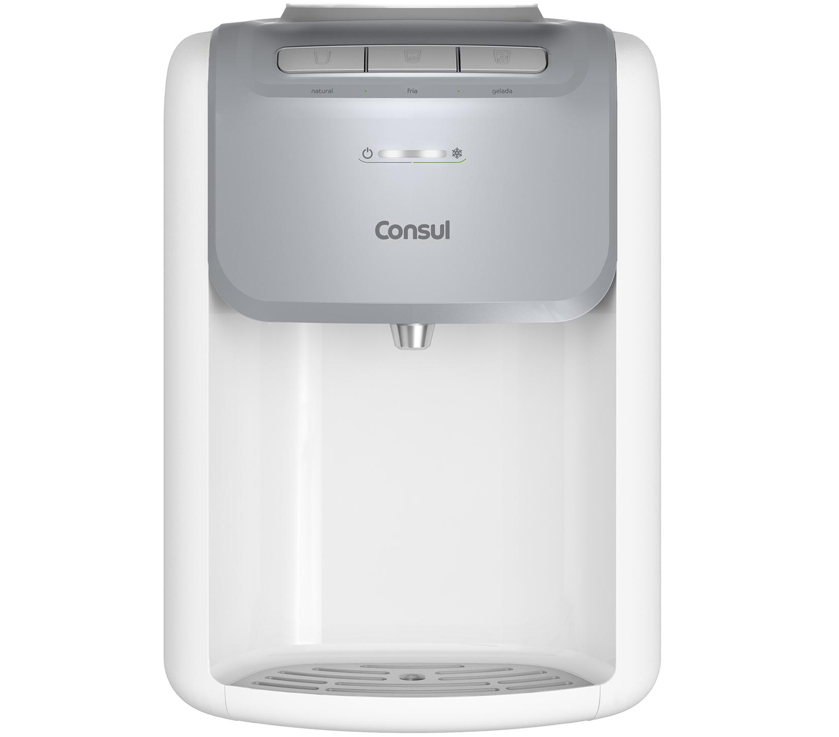 Bebedouro de Mesa Consul CJD20AB para Garrafao Refrigerado por Compressor Branco 220V