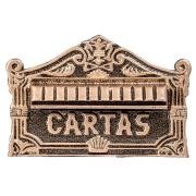 Porta-cartas Alumínio Galvanizado 22x15,5 cm Dourada - LGMais