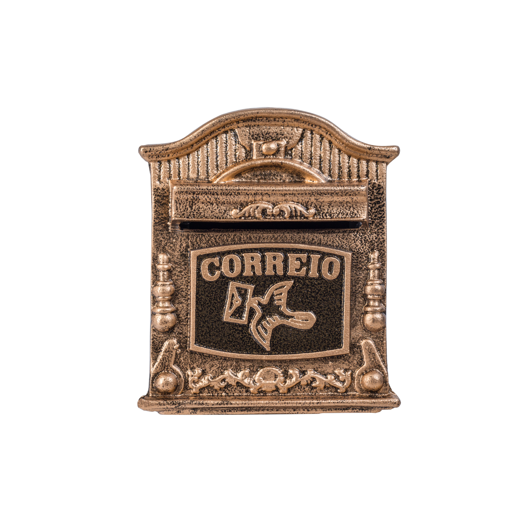 Porta Carta Escovado de Aluminio Reciclavel 19x16x24cm Dourado - LGMais
