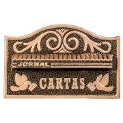 Porta-cartas Alumínio Galvanizado 31x19,5 cm Dourada - LGMais