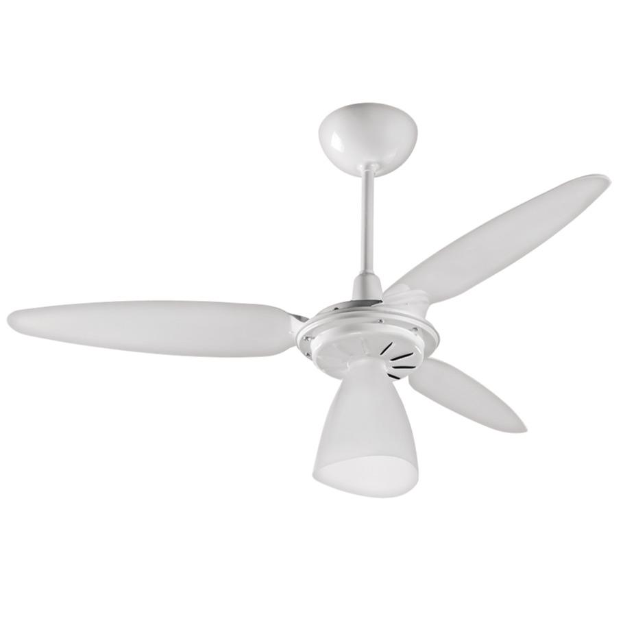 Ventilador de Teto Ventisol 3 Pas Wind Light 272 Branco 220V - 1 Lampada 3 Velocidades