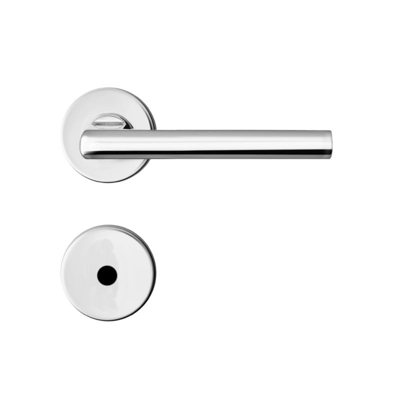 Fechadura WC Roseta e Macaneta Cromado R66 MZ180 Standard - Papaiz