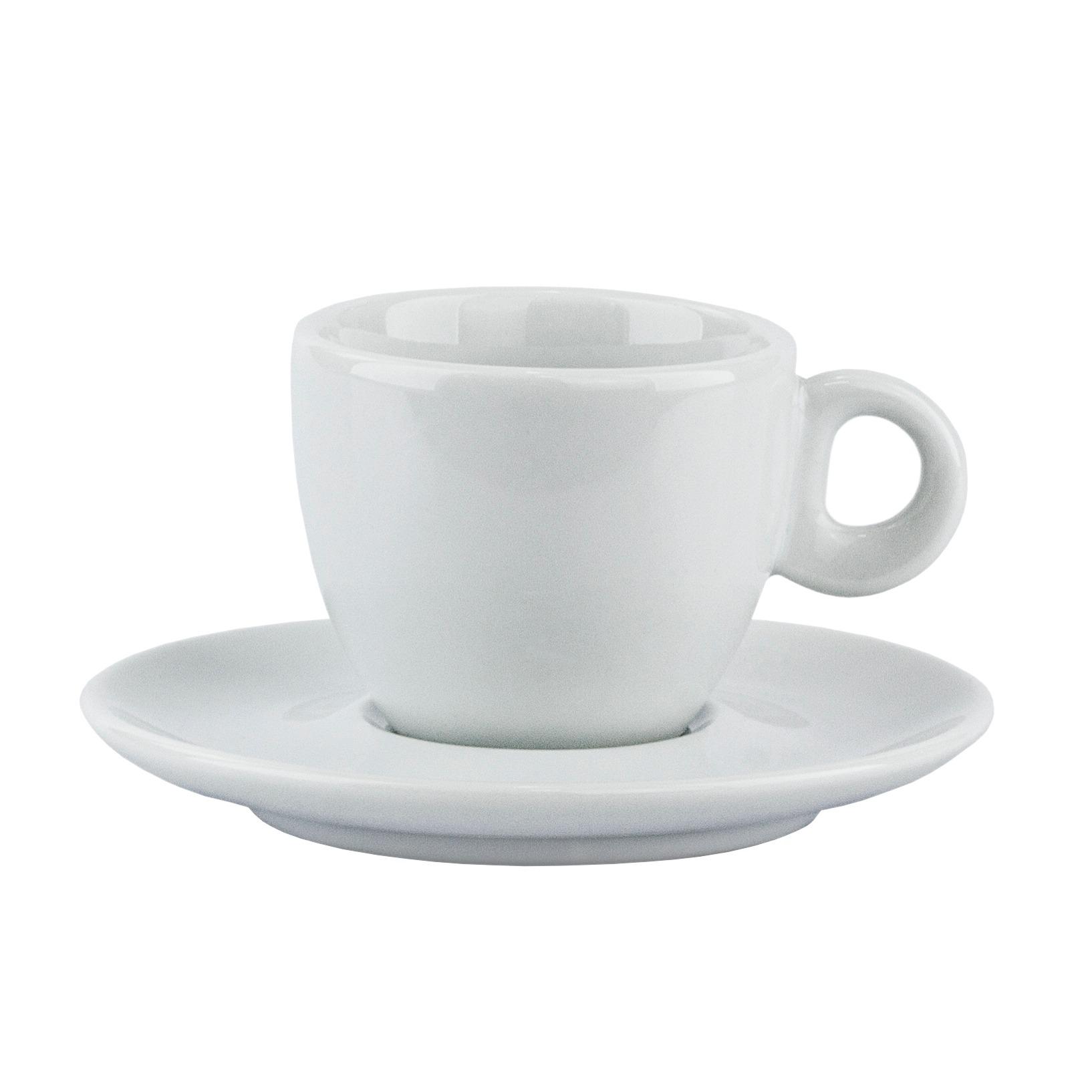 Xicara De Cafe Sofia De Porcelana 80ml Com Pires Branco - Schmidt