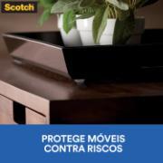 Protetor anti-impacto de Feltro Autoadesivo Redondo 2,1x2,1 - 3M