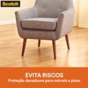 Protetor 3M Anti-Risco de Feltro Scotch Autoadesivo Redondo 2,5x2,5cm