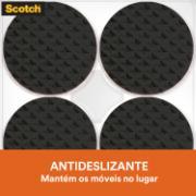 Protetor 3M Anti-Risco de Feltro Autoadesivo Redondo 1,9x1,9cm - Preto