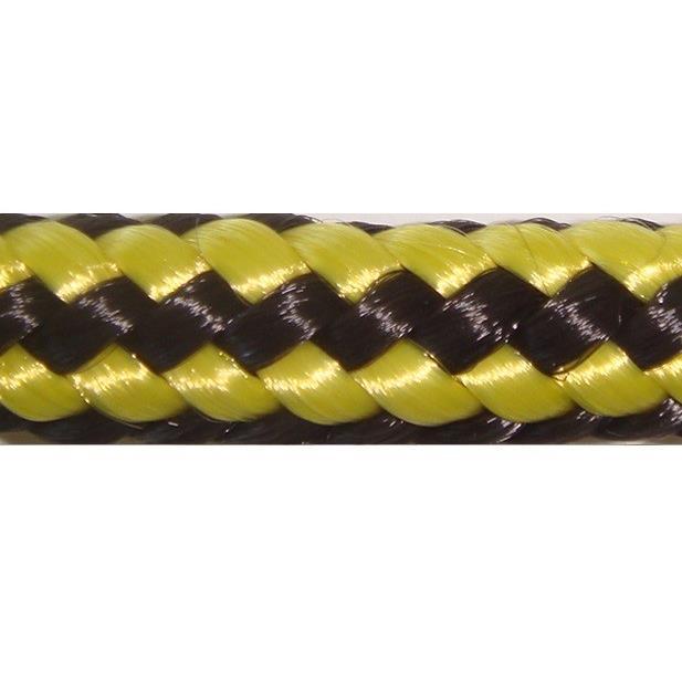 Corda Multiuso de Poliester 80mm x 200m Amarelo e Preto - Cordas Erval