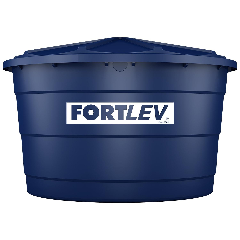 Caixa Dagua de Polietileno com Tampa 3000L Azul - Fortlev