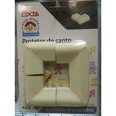 Protetor de Canto Mesa de Vidro Branco 4 Unidades 9255 - Fixtil
