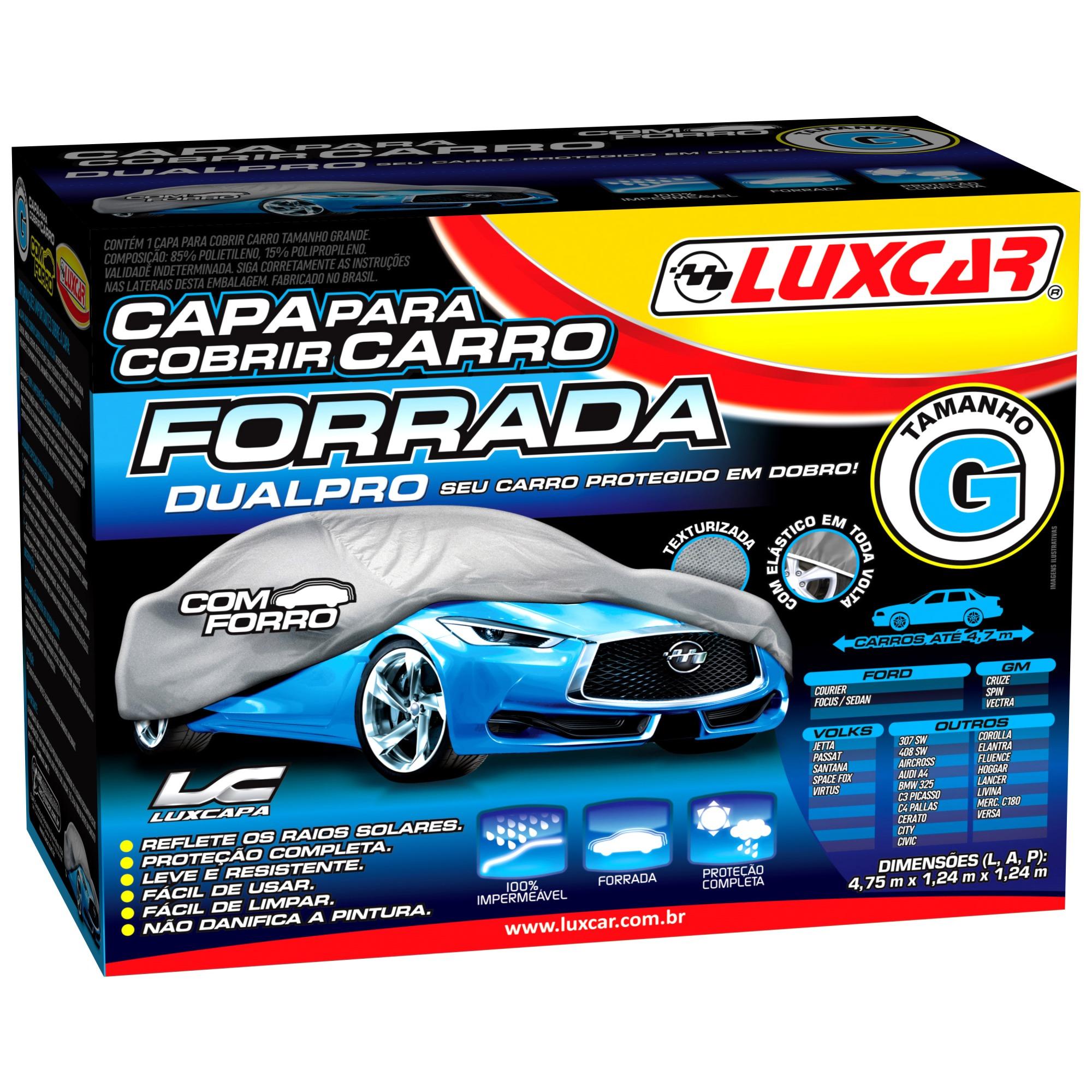 Capa Protetora para Carro Tamanho G - Luxcar