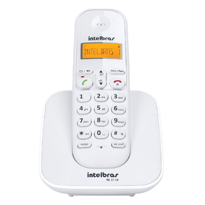 Telefone sem Fio Intelbras com Identificador de Chamadas TS3110 - Branco