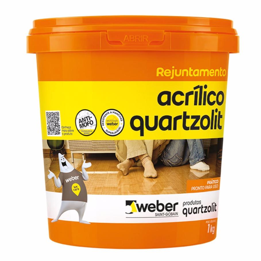 Rejunte Acrilico Cinza Artico Balde1kg - Quartzolit