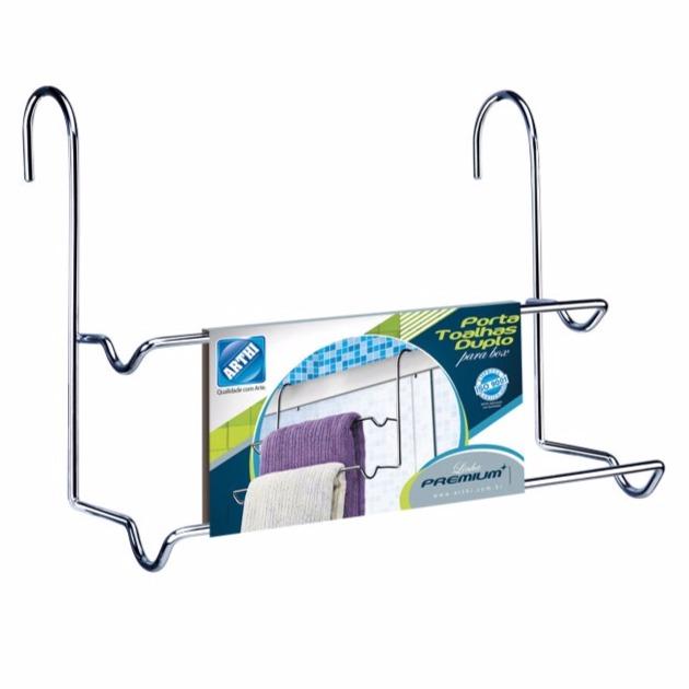 Toalheiro Box Cromado Duplo 1243C - Arthi