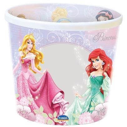 Balde para Pipoca de Plastico Princesas 21L - Plasutil