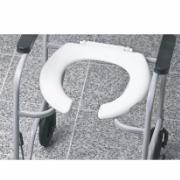 Assento Sanitário Oval para Cadeira de Rodas Aberto Branco - Mebuki