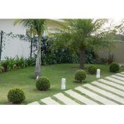 Balizador de Jardim Alumínio Branco 30cm 191 - Femarte