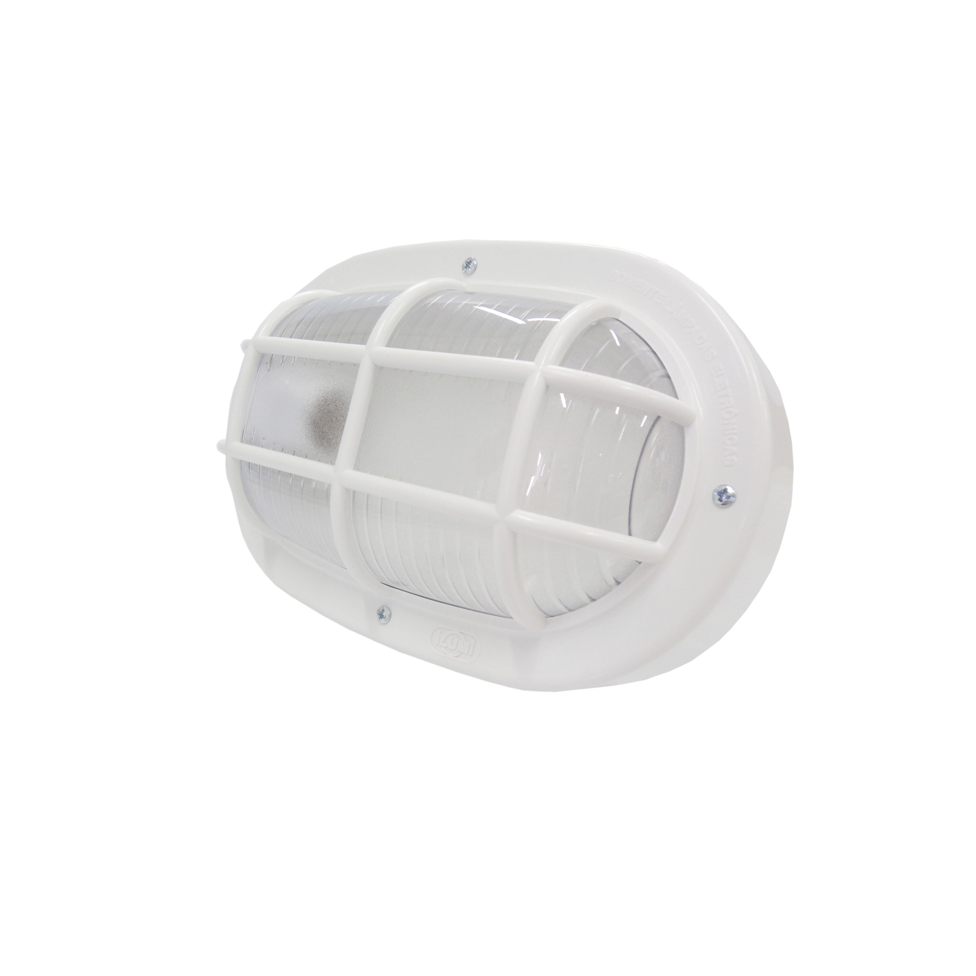 Luminaria Externa PLS Tartaruga Oval Branca 16110 - Ilumi