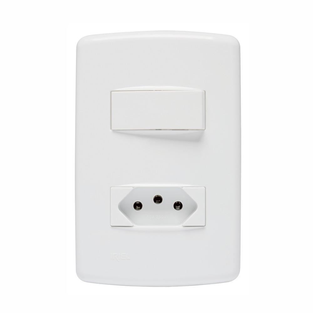 Conjunto 1 interruptor 1 tomada 10A Duale UP - Iriel