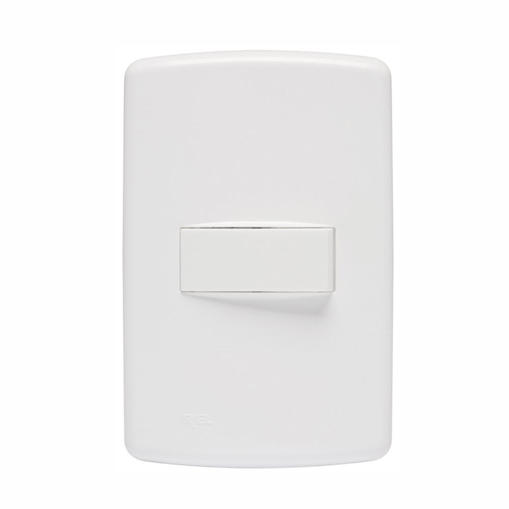 Conjunto Interruptor Simples 1 Modulo 10A - Branco - Duale UP - Iriel