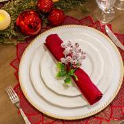 Aparelho de Jantar de Porcelana 20 Peças Branco - Schmidt