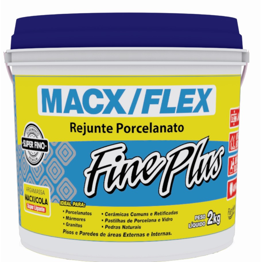 Rejunte Flexivel Macx Fine Branco Balde2kg - MacXCola