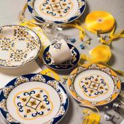 Aparelho de Jantar de Cerâmica 20 Peças Floreal São Luís Azul Escuro - Oxford