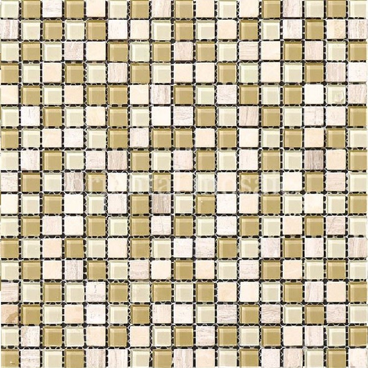 Pastilha de Vidro Brilhante 15x15cm Branco - ML001BC - Jolie