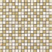 Pastilha de Vidro Brilhante 1,5x1,5cm Branco - ML001BC - Jolie