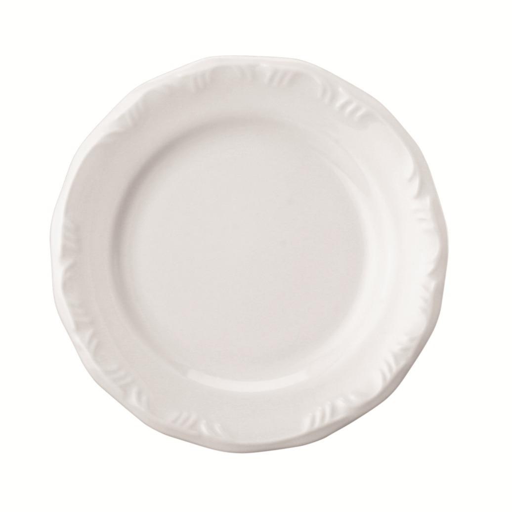 Prato de Sobremesa Redondo em Porcelana Pomerode Branco 19cm - Schmidt