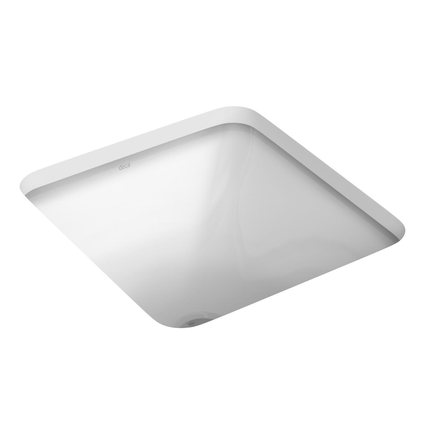Cuba de Louca de Embutir Quadrado 35x35 cm Branco Gelo - L41517 Deca