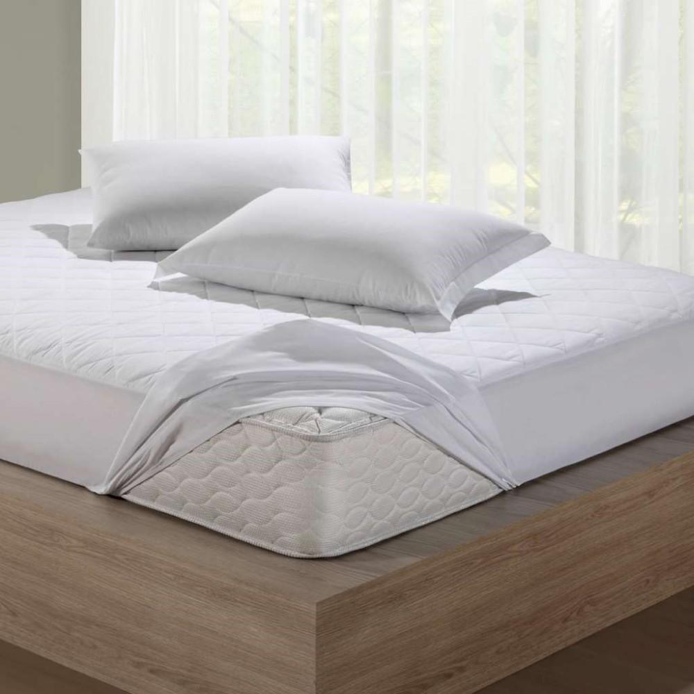 Protetor para Colchao Casal Santista Branco Impermeavel com Elastico 140x190 cm - Branco