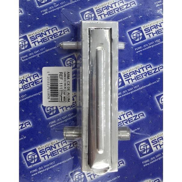 Gancho para Rede de Embutir 225Kg Aco Inox E Aluminio Polido 1 Unidade - Santa Thereza