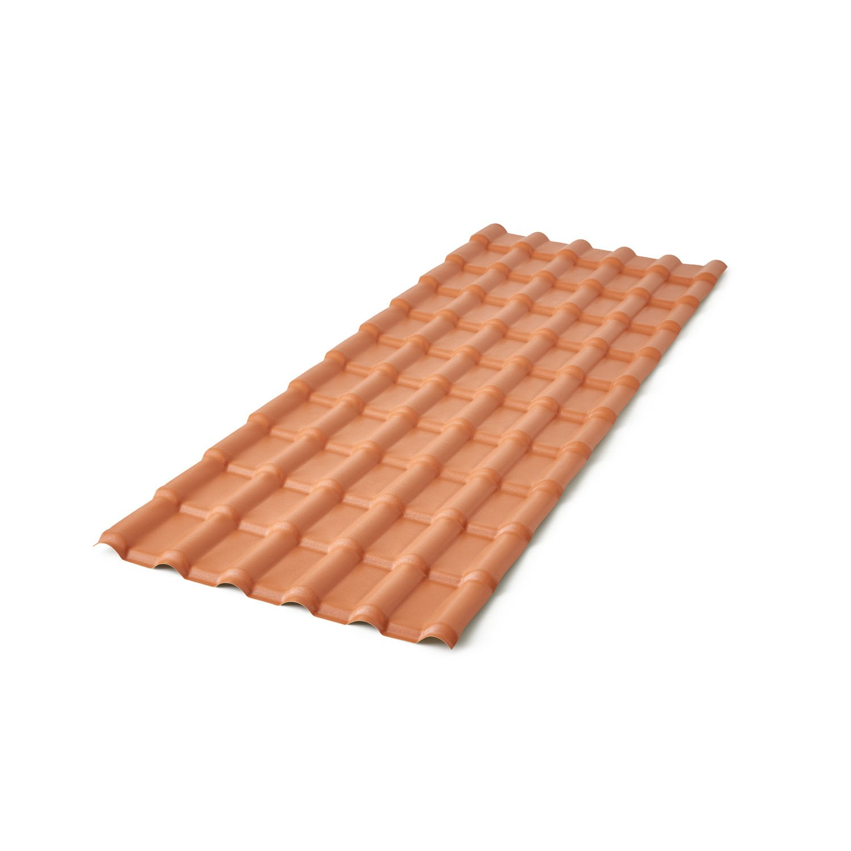 Telha de PVC Plan 15mm 86x240 cm Cor Ceramica - Precon
