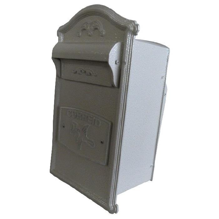 Porta-cartas Aluminio 41x23 cm Branco - RB