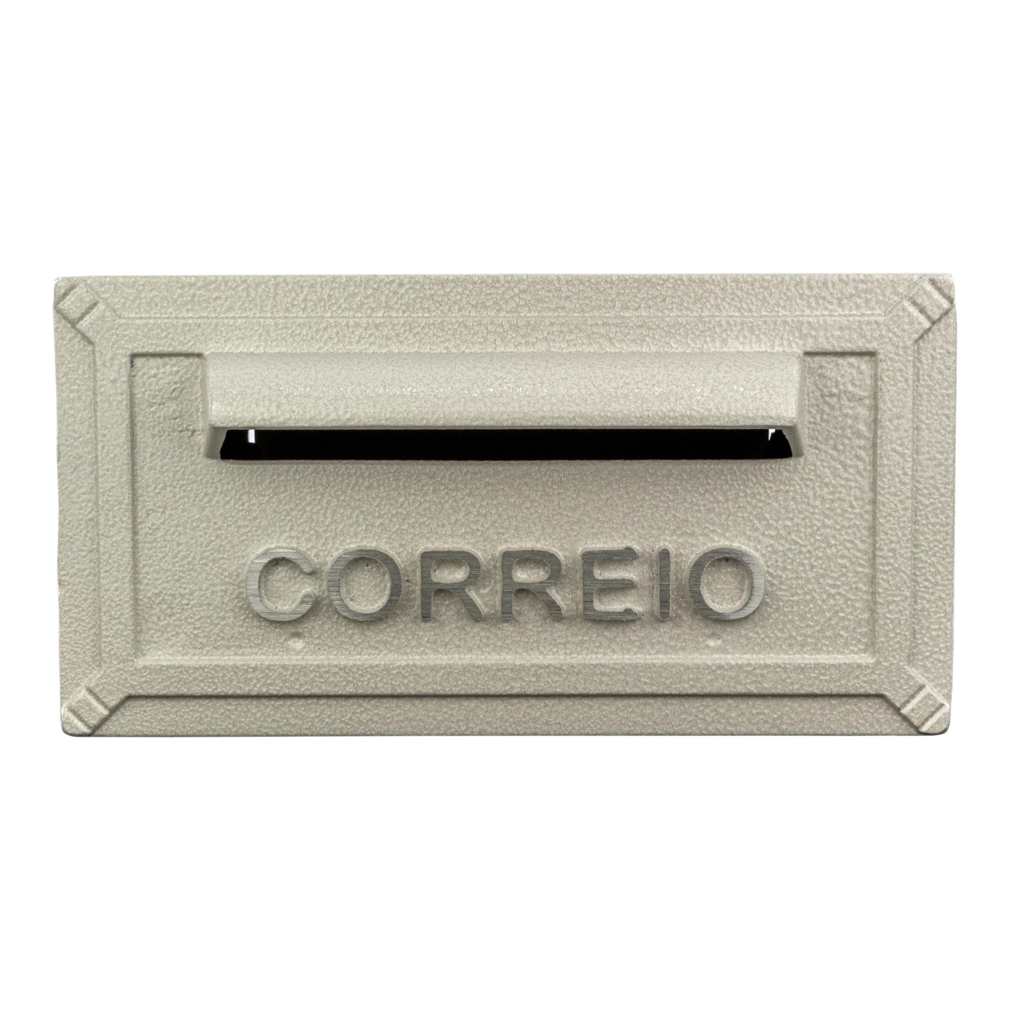 Porta-cartas Aluminio 126x253 cm Turquesa Branca - Prates e Barbosa