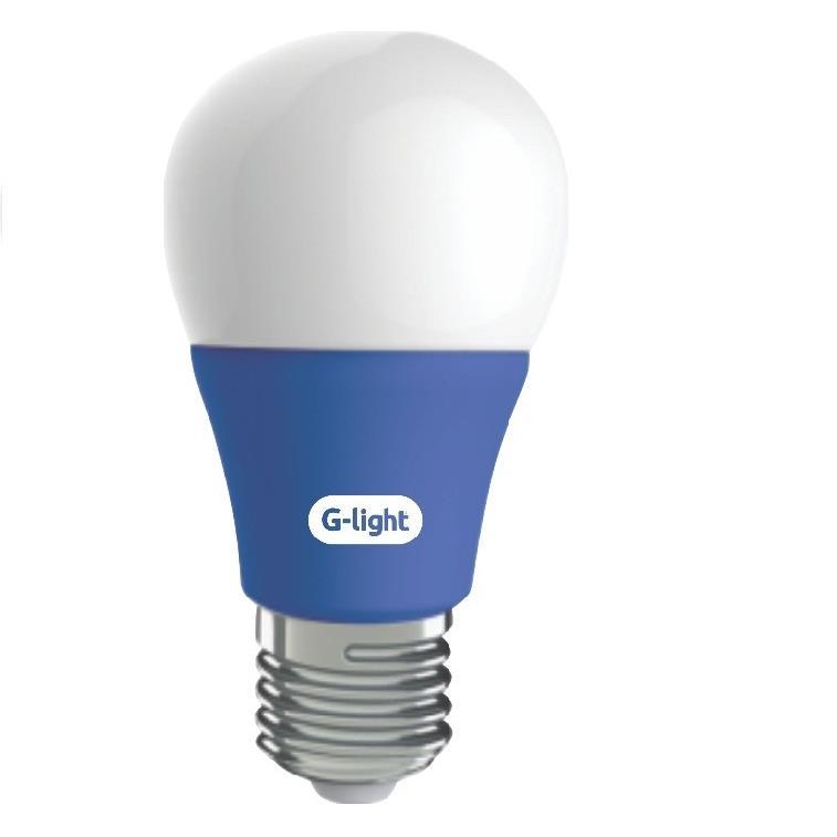 Lampada LED Bulbo A60 5W Luz Azul E27 Autovolt - Glight