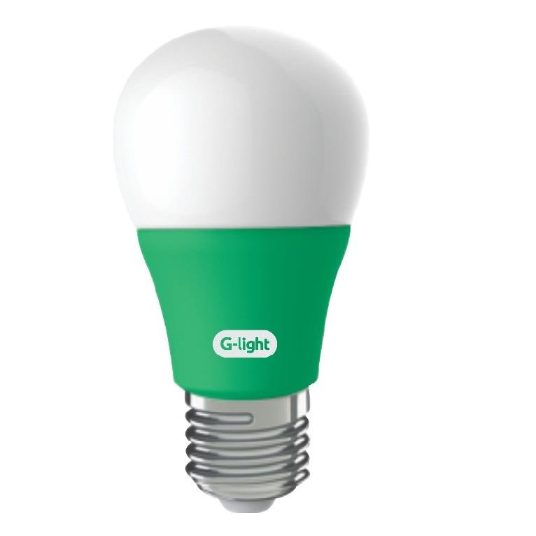 Lampada LED Bulbo A60 5W Luz Verde E27 Autovolt - Glight