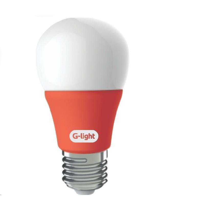 Lampada LED Bulbo A60 5W Luz Vermelha E27 Autovolt - Glight