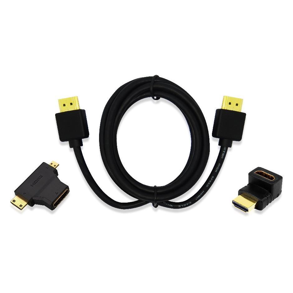 Kit HDMI com Cabo 18 Metros Multilaser com Adaptador Preto - WI289